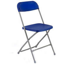 Blue Samsonite Chair